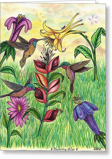Occasion Pastels Greeting Cards - Hummingbirds Paradise Greeting Card by Gene Pippert