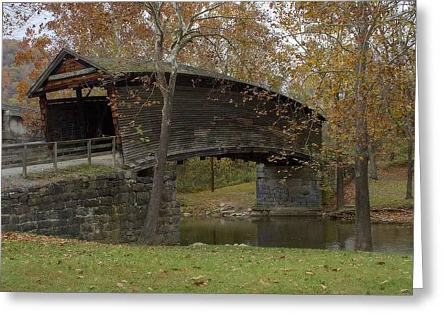 Covered Bridge Greeting Cards - Humpback Bridge Right Side View Greeting Card by Jennifer Lamanca Kaufman