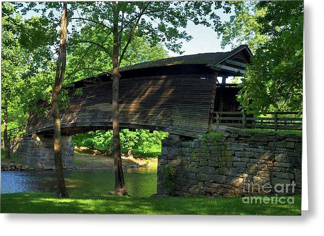 Shade Cover Greeting Cards - Humpback Covered Bridge 2 Greeting Card by Mel Steinhauer