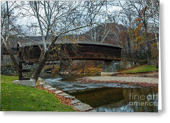 Covered Bridge Greeting Cards - Humpback Covered Bridge Greeting Card by Debbie Green