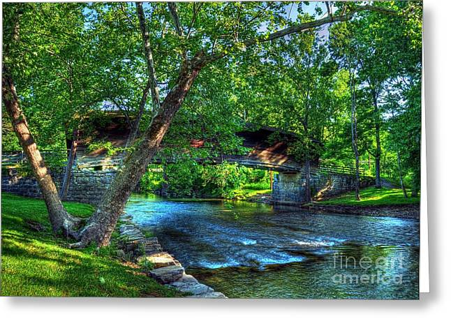 Shade Cover Greeting Cards - Humpback Covered Bridge Greeting Card by Mel Steinhauer