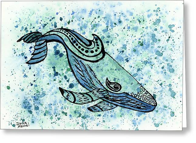 Sea Animals Greeting Cards - Humpback Whale Greeting Card by Darice Machel McGuire