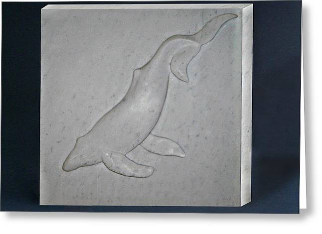 Humpback Whale Greeting Card by Leslie Dycke