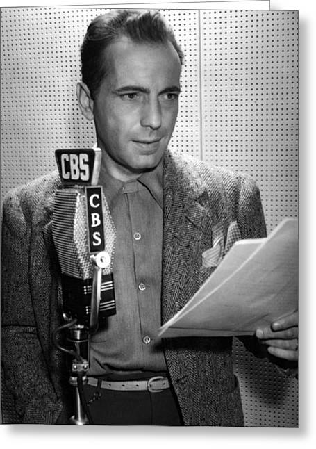 Maltese Photographs Greeting Cards - Humphrey Bogart Actor Greeting Card by Daniel Hagerman