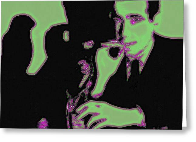 Art In Squares Greeting Cards - Humphrey Bogart and The Maltese Falcon 20130323 Square Greeting Card by Wingsdomain Art and Photography