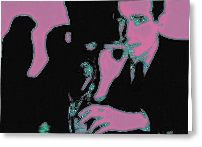 Art In Squares Greeting Cards - Humphrey Bogart and The Maltese Falcon 20130323m138 Square Greeting Card by Wingsdomain Art and Photography