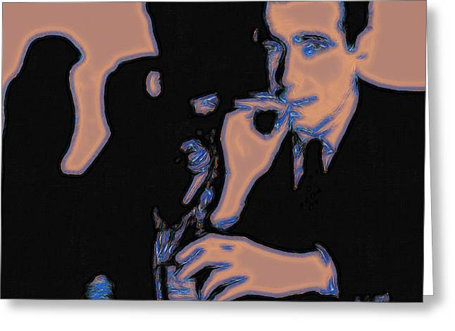 Art In Squares Greeting Cards - Humphrey Bogart and The Maltese Falcon 20130323m88 Square Greeting Card by Wingsdomain Art and Photography