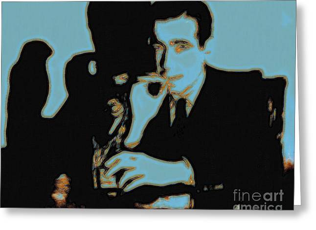 Humphrey Bogart and The Maltese Falcon 20130323p88 Greeting Card by Wingsdomain Art and Photography
