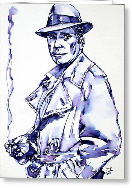 Humphrey Bogart Greeting Cards - Humphrey Bogart  Greeting Card by Fabrizio Cassetta
