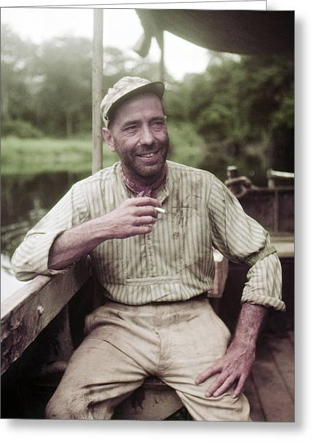 Bogart Greeting Cards - Humphrey Bogart in The African Queen  Greeting Card by Silver Screen