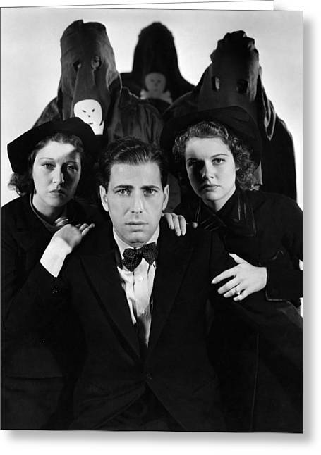 Vip Greeting Cards - Humphrey Bogart in The Black Legion 1937 Greeting Card by Mountain Dreams