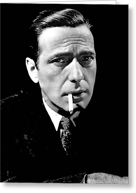 Maltese Falcon Greeting Cards - Humphrey Bogart publicity photo The Maltese Falcon 1941-2014 Greeting Card by David Lee Guss
