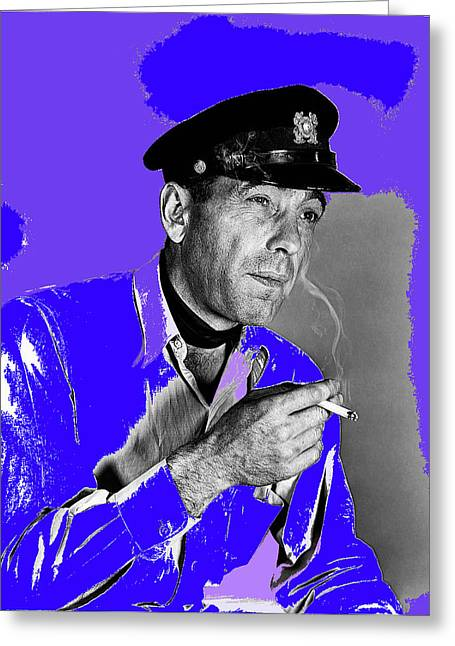 Publicity Shot Photographs Greeting Cards - Humphrey Bogart publicity shot Howard Hawks To Have and Have Not 1944-2014 Greeting Card by David Lee Guss