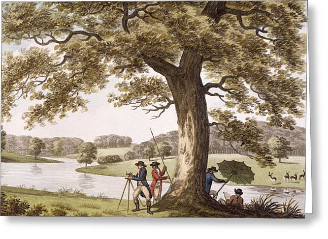 Alteration Greeting Cards - Humphrey Repton Surveying Greeting Card by Humphry Repton