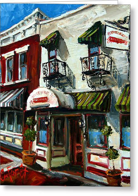 Humphreys Bar And Grill Greeting Card by Carole Foret