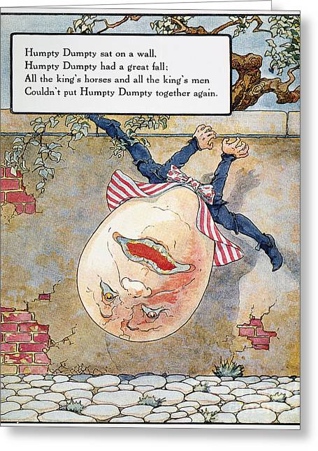 Mother Goose Greeting Cards - Humpty Dumpty, 1915 Greeting Card by Granger