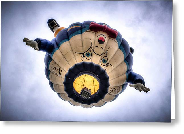 Canvas Wall Art Greeting Cards - Humpty Dumpty Hot Air Balloon Greeting Card by Thom Zehrfeld