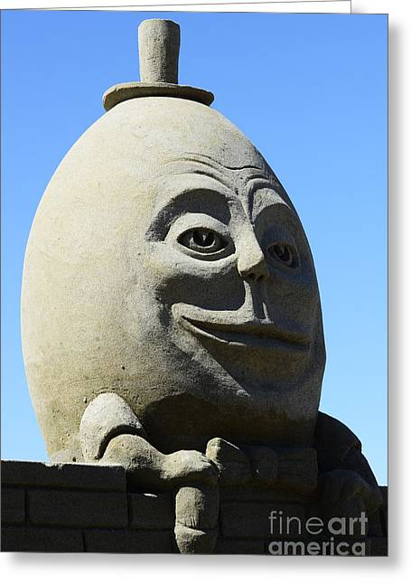 Humpty Dumpty Greeting Cards - Humpty Dumpty Sand Sculpture Greeting Card by Bob Christopher