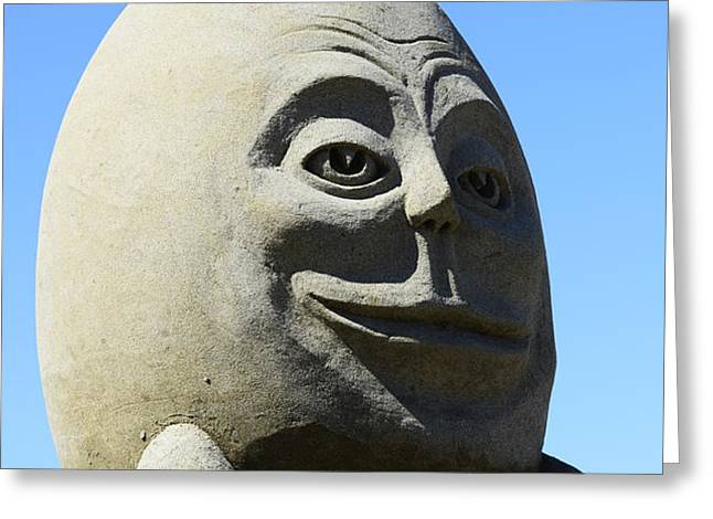 Humpty Dumpty Sand Sculpture Greeting Card by Bob Christopher