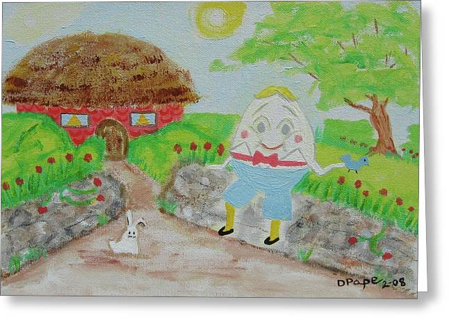 Humpty's House Greeting Card by Diane Pape