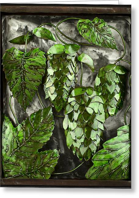 Photography Reliefs Greeting Cards - Humulus Lupulus Greeting Card by Chip Vander Wier