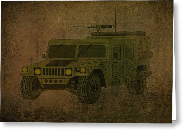 Sand Storm Drawings Greeting Cards - Humvee Midnight Desert  Greeting Card by Movie Poster Prints