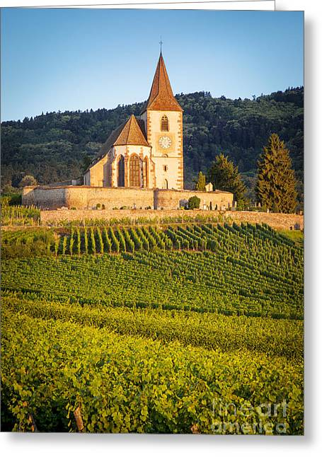 Route Des Vins Greeting Cards - Hunawihr Dawn Greeting Card by Brian Jannsen