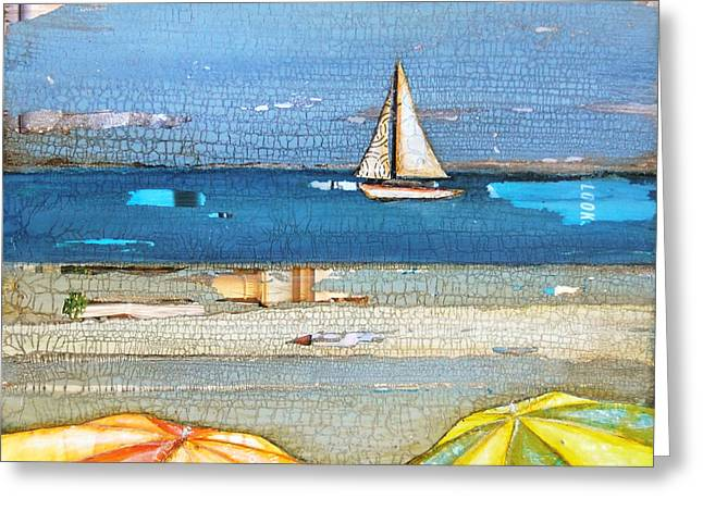 Sailboat Art Greeting Cards - Hundred Percent Chance of Sun Showers Greeting Card by Danny Phillips