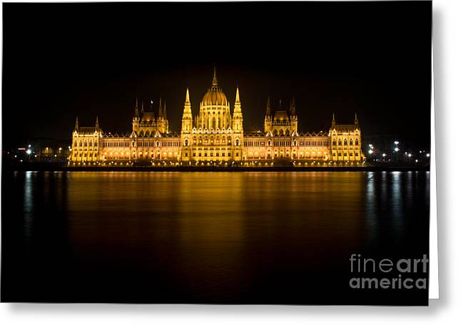 City Greeting Cards - Hungarian Parliament Greeting Card by Eszter Kovacs