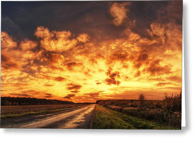 Hdr Landscape Pyrography Greeting Cards - Hungarian skies pt.XLII. Greeting Card by Zsolt Zsigmond