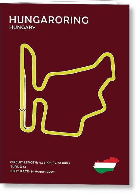 Formula 1 Greeting Cards - Hungaroring Greeting Card by Mark Rogan