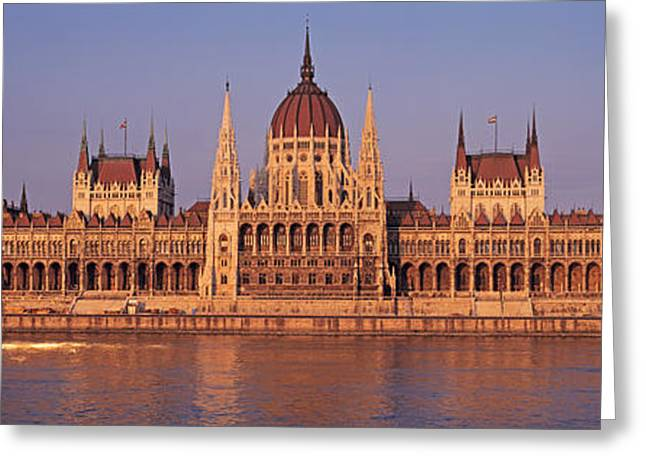Hungary Greeting Cards - Hungary, Budapest, View Greeting Card by Panoramic Images