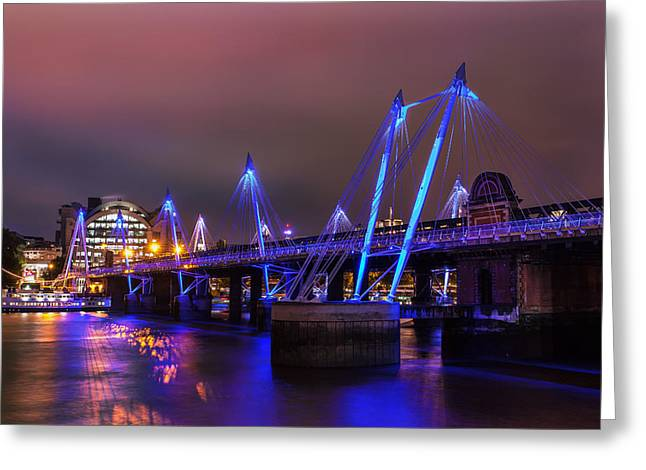 Charing Cross Bridge Greeting Cards - Hungerford Bridge 2 Greeting Card by Stuart Gennery