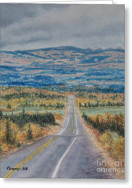 British Columbia Pastels Greeting Cards - Hungry Hill Autumn Greeting Card by Stanza Widen