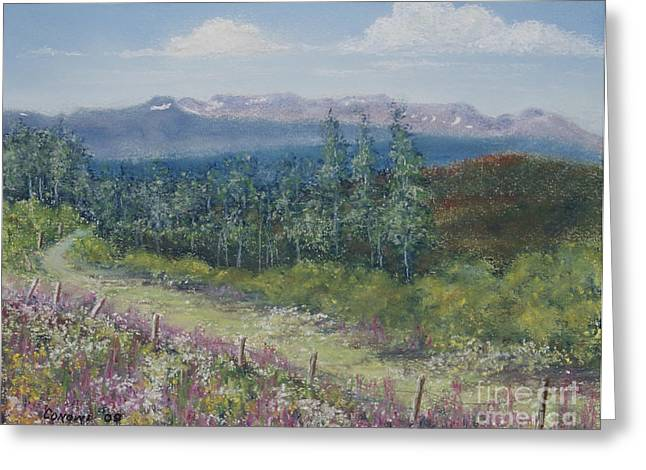 British Columbia Pastels Greeting Cards - Hungry Hill Summer Greeting Card by Stanza Widen