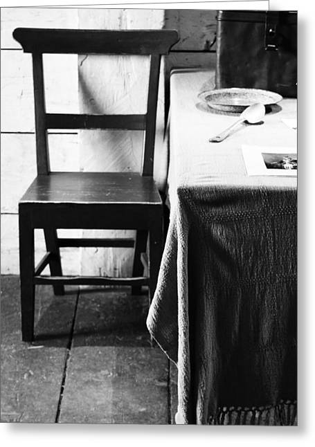 Table Cloth Greeting Cards - Hungry Traveller Greeting Card by Jerry Cordeiro