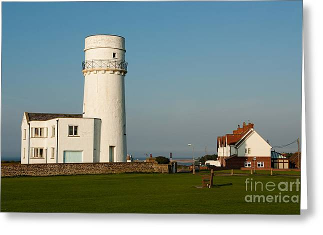 Wetland Greeting Cards - Hunstanton Lighthouse Norfolk UK Greeting Card by John Edwards