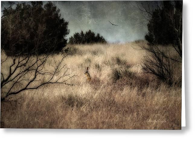 Karen Slagle Greeting Cards - Hunter and the Hunted Greeting Card by Karen Slagle