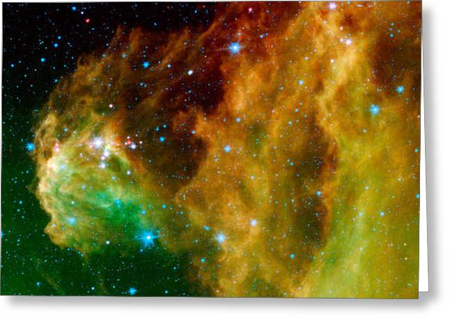 Hubble Greeting Cards - Hunter Constellation Greeting Card by Sebastian Musial