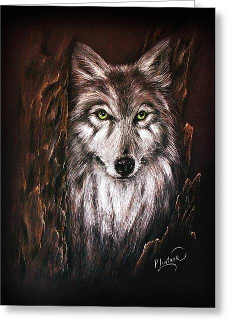 Nocturnal Animal Print Greeting Cards - Hunter in the Night Greeting Card by Patricia Lintner