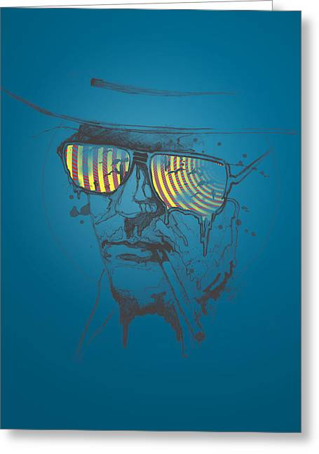 Philosopher Greeting Cards - Hunter S. Thompson Greeting Card by Pop Culture Prophet