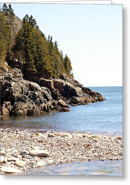Recently Sold -  - Ledge Greeting Cards - Hunters Beach Shore Acadia Greeting Card by Lena Hatch