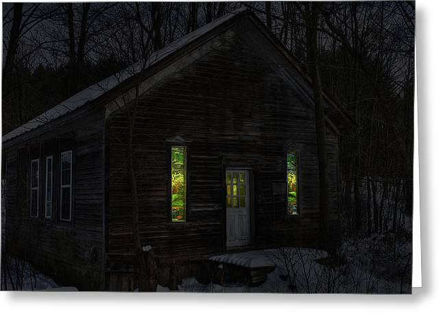 Hunting Cabin Digital Art Greeting Cards - Hunters Cabin Greeting Card by David Simons