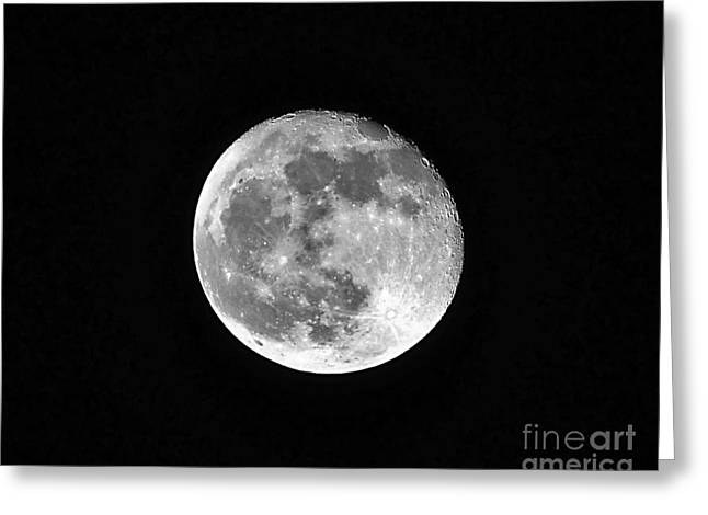 Sea Of Tranquility Greeting Cards - Hunters Moon Greeting Card by Al Powell Photography USA