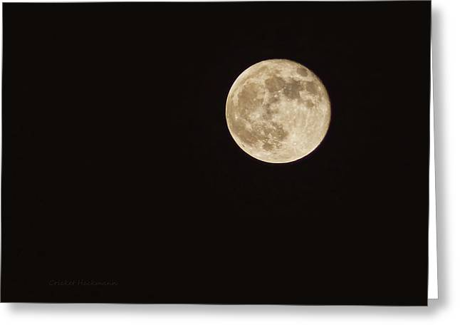 Moon Surface Greeting Cards - Hunters Moon Greeting Card by Cricket Hackmann