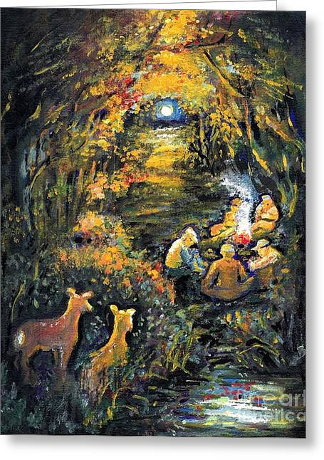Campfire Stories Greeting Cards - Hunters Woe Greeting Card by Barbara LeMaster