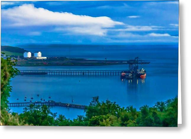 Best Sailing Photos Greeting Cards - Hunterston Deep Water Terminal Ayrshire Greeting Card by Tylie Duff