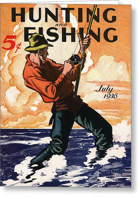 Hunting And Fishing Greeting Card by Gary Grayson