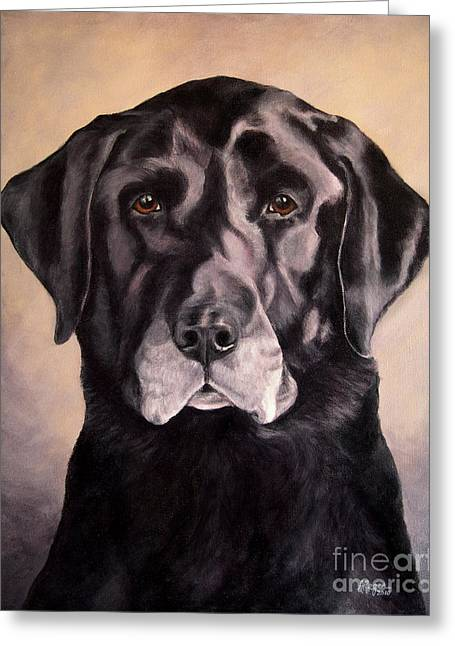 Recently Sold -  - Hunting Bird Greeting Cards - Hunting Buddy Black Lab Greeting Card by Amy Reges