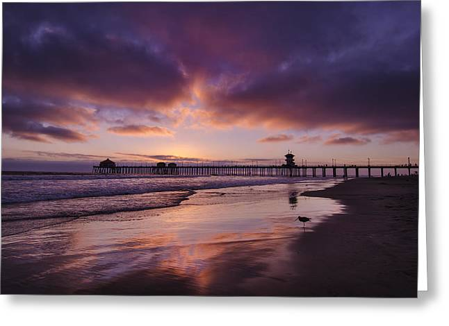 Huntington Beach Greeting Cards - Huntington Beach California Greeting Card by Sean Foster